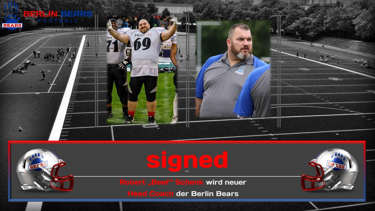 Berlin Bears verpflichten Wunschkandidaten für den vakanten Head Coach Posten.